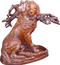 398: INCREDIBLE BLACK FOREST DOG UMBRELLA STAND 15755