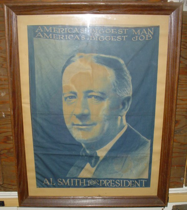 7: FRAMED BANNER AL SMITH FOR PRESIDENT 1785