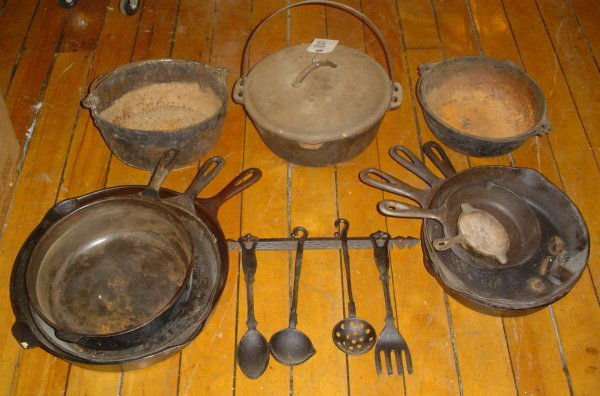 23: IRON COOKWARE LOT 1800