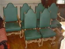 531: SET OF 6 PAINTED OAK RJ HORNER CHAIRS