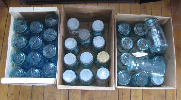 6: 3 BOXES OF CANNING JARS 1072