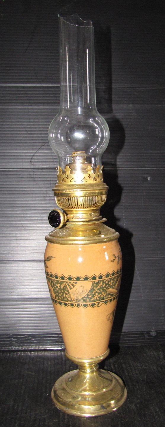 13: OIL LAMP WITH PEACH LONG FONT 14502C