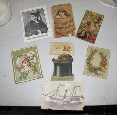 16: 8 SMALL TRADE ADVERTISEMENT CARDS 1516
