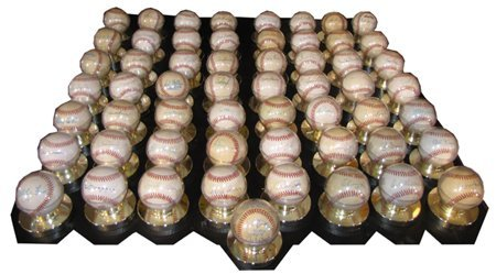 308: 57 AUTOGRAPHED AND CERTIFIED BASEBALLS 3463