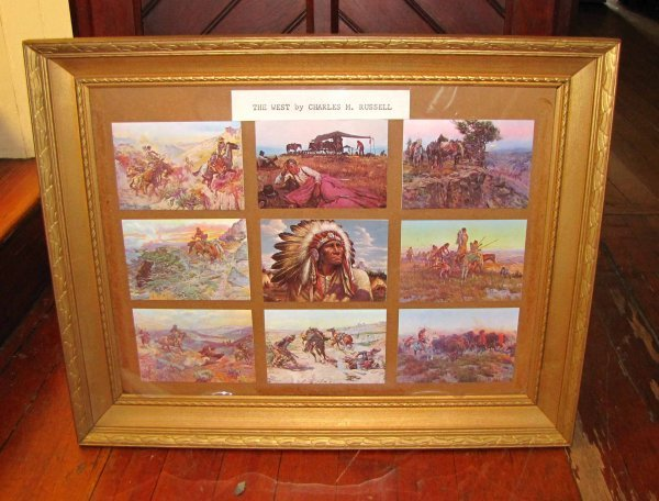 "18: FRAMED GROUPING ""THE WEST"" BY CHARLED M RUSSELL 373"