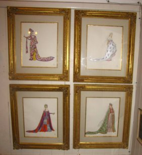 4 FRAMED LIMITED EDIT PRINTS OF WOMAN ROYALTY 3729