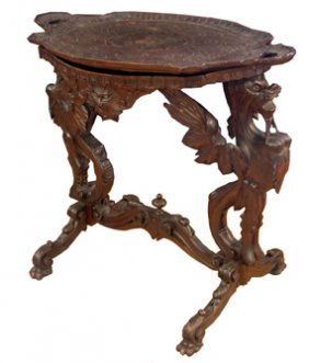 CVD WALNUT BACK TO BACK GRIFFIN TABLE W/TRAY 15647