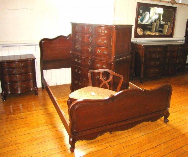 235: ANTIQUE 7 PC MAHOGANY BED ROOM SET 1553