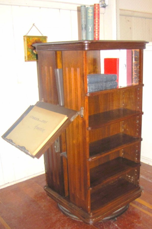 179: REVOLVING BOOKCASE W/ DISPLAY SARGENT MFG CO 3903
