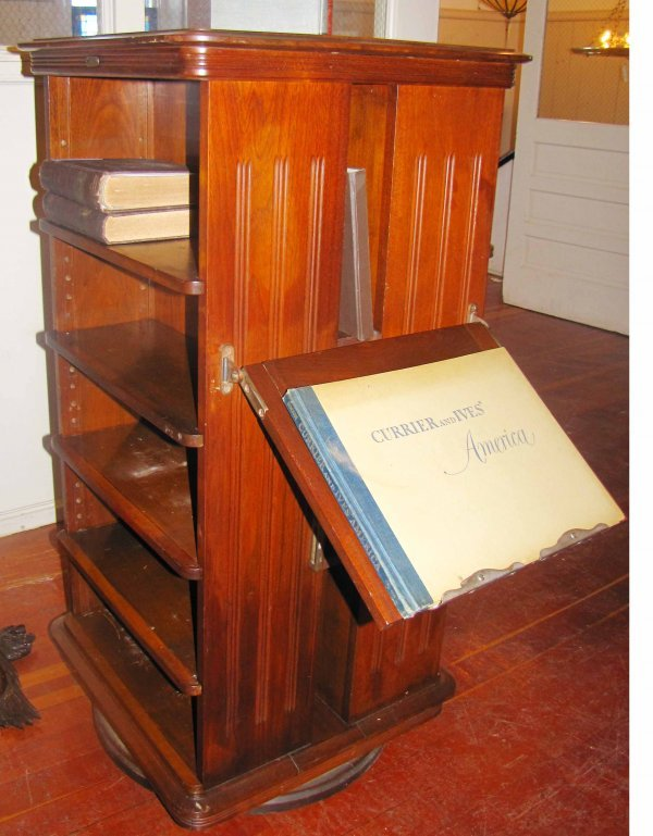 179: REVOLVING BOOKCASE W/ DISPLAY SARGENT MFG CO 3903 - 2