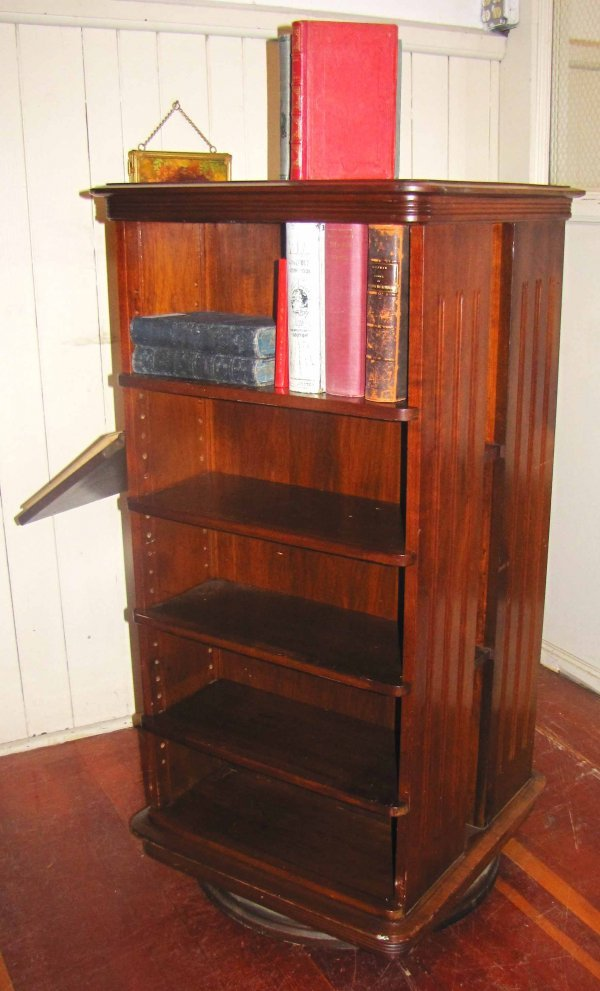 179: REVOLVING BOOKCASE W/ DISPLAY SARGENT MFG CO 3903 - 4