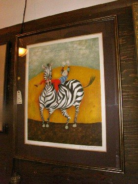 LIMITED EDITION PRINT OF BOY ON ZEBRA, SGD (1511)
