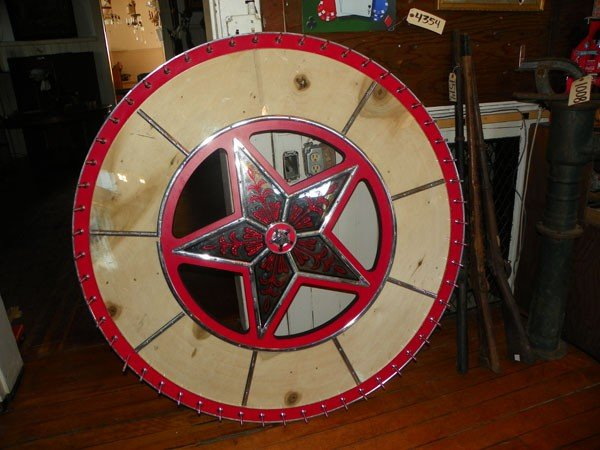 3: ORIGINAL GAMBLING WHEEL WITH MIRRORED STAR CTR 4424
