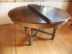 SIGNED LIMBERT MAHOGANY TABLE W/ 2 LEAVES 1855