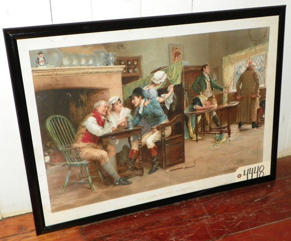 65: FRAMED PRINT OF THE STORY OF THE ELOPEMENT 4448