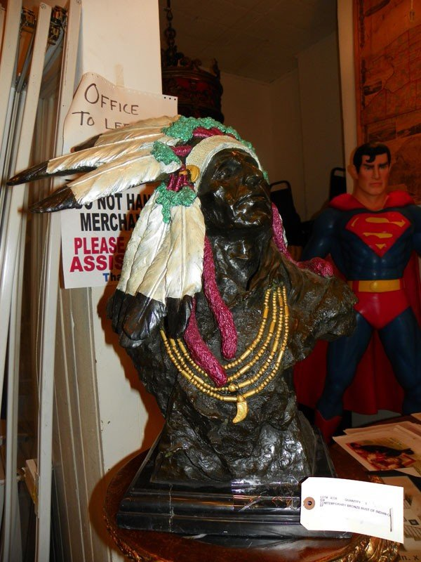69: BRONZE BUST OF INDIAN CHIEF 4338