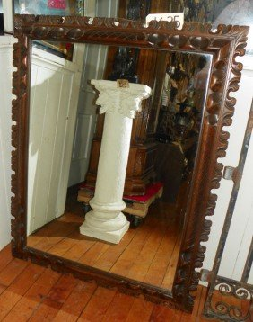 CARVED WOOD WALL MIRROR  (1625)