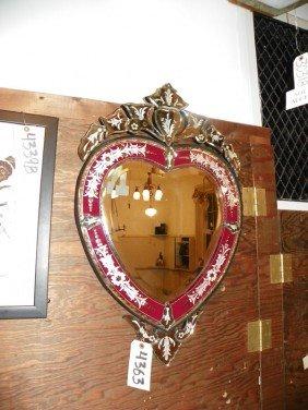 CONTEMPORARY HEART SHAPED VENETIAN MIRROR 4363