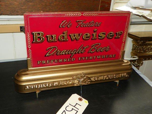 116: BUDWEISER CUT GLASS ADVERTISING SIGN 4525