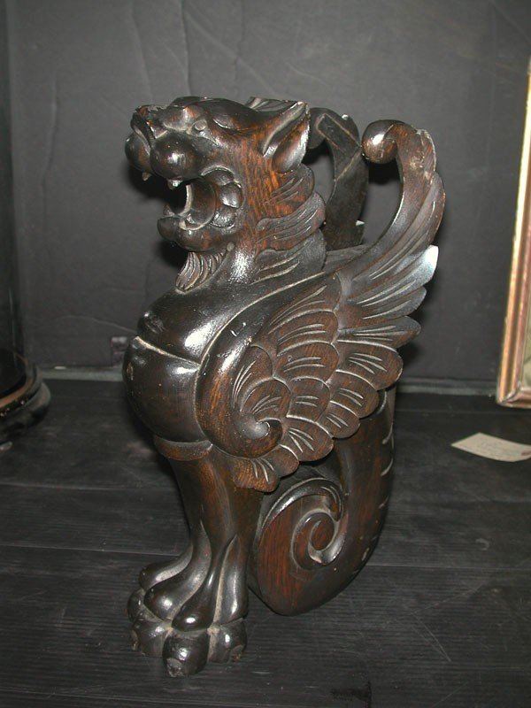 117: CVD OAK WRAPPED TAIL WINGED GRIFFIN (4088C)