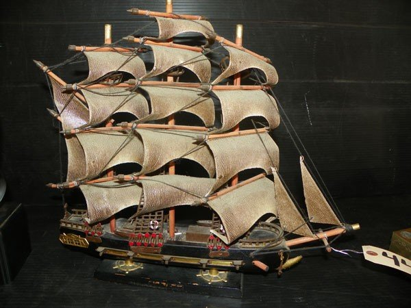 137: INTRICATELY DETAILED MODEL SAIL BOAT 4494