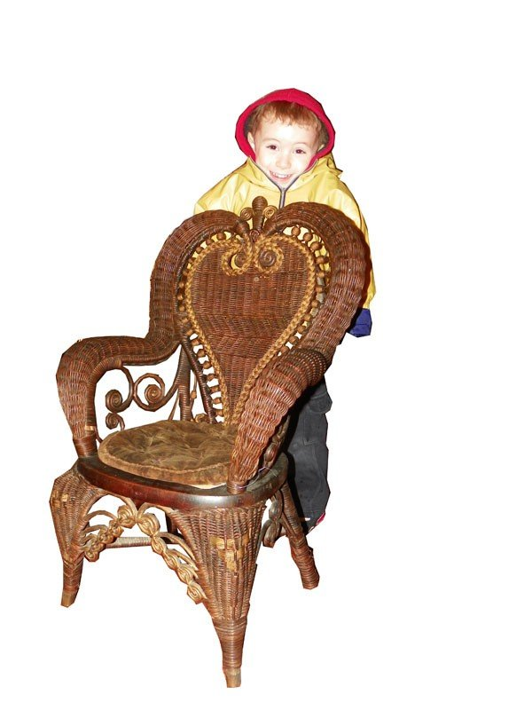 141: SMALL CHILDS WICKER CHAIR (1857)