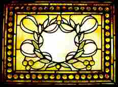 562: RARE ATTR. 2 TIFFANY STAINED & JEWELED WINDOW 1559