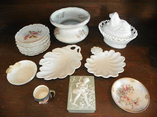 34: 15 PC CHINA & GLASS LOT- TOBY, WEDGEWOOD, ETC 2288