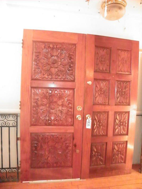 35: 2 DOUBLE SIDED OAK DOORS 4616