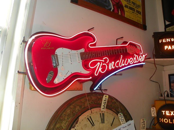 neon budweiser true b music electric guitar 4349