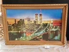 150A WORLD TRADE CENTER FIBEROPTIC WALL PICTURE 991865