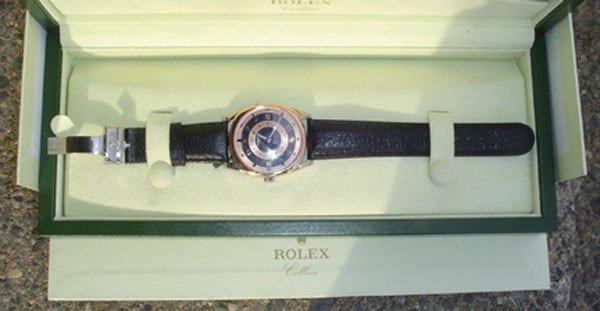 219: ROLEX CELLINI 18K WHITE & ROSE GOLD GENEVA WATCH (