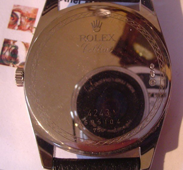 219: ROLEX CELLINI 18K WHITE & ROSE GOLD GENEVA WATCH ( - 4