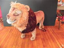 LG STEIFF LION WITH 2 COLORED MANE 2455