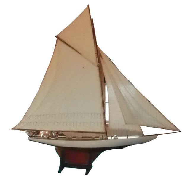 32: OVERSIZE MODEL SAILBOAT WITH ORIGINAL SAILS  1590