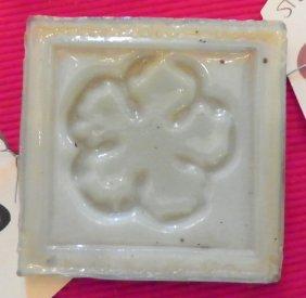 REMARKABLE SGND TIFFANY ART GLASS FLORAL TILE 4716C