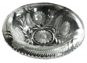 QUALITY LEAD CRYSTAL CUT GLASS CENTER BOWL 1643