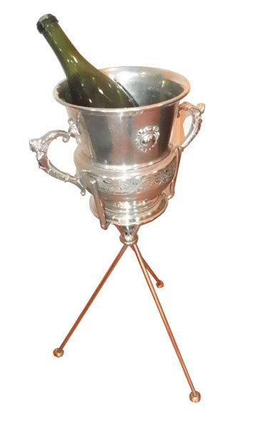 74: SILVER PLATED  DBL HANDELED CHAMPAGNE BUCKET 1575