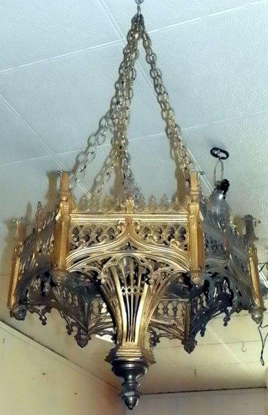 79: CAST BRONZE GOTHIC HEX ARCH TOP HANGER 1531