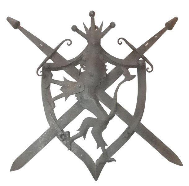 91: IRON CROSS SWORD SHIELD W/LION CNTR & CROWN 14352