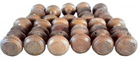 CAST BRONZE AMERICAN EASTLAKE DOOR KNOBS 3961