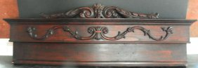 CVD WALNUT OVER DOOR PIECE W/ 3 FACES ON IT 1657