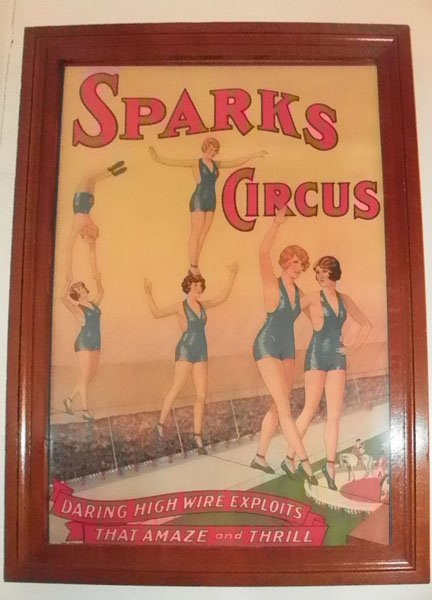 144: PRINT OF SPARKS CIRCUS TIGHT ROPE WALKER 30324