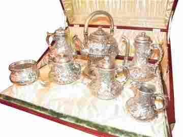 279: GORHAM 7PC STERLING TEA SET PRESENTATION CASE 4700