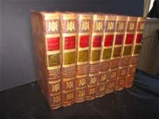 41: SET 8 LEATHER BOUND SHAKESPEAR BOOKS.1788-1791 80T