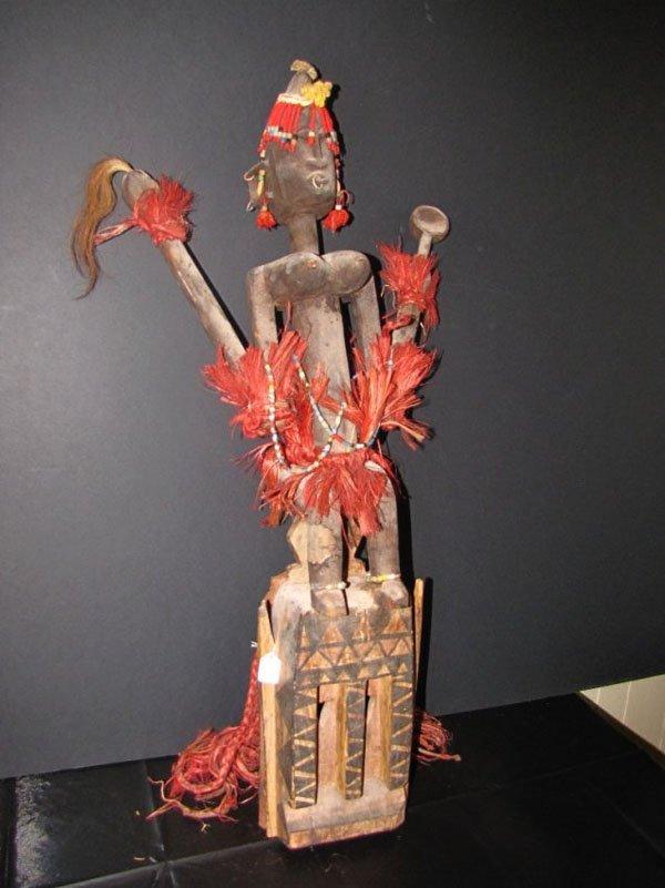 AFRICAN MASK OF DOGON MAN SATIMBE W STONE 1524