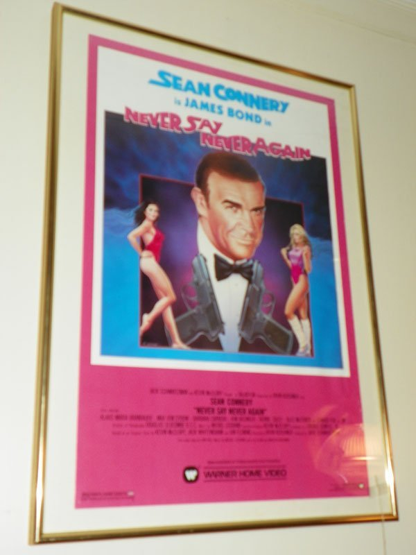 FRAMED MOVIE POSTER OF SEAN CONNERY AS JAMES BOND 4367