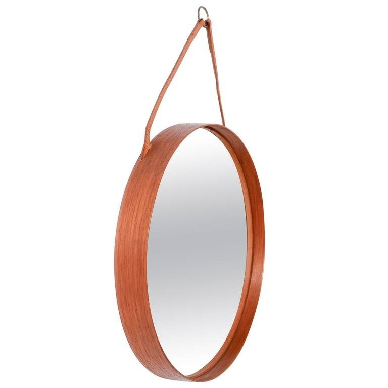 Uno and Osten Kristiansson for Luxus Teak Wall Mirror