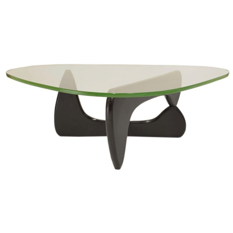 Green glass coffee table by isamu noghuchi early green glass coffee table by isamu noghuchi geotapseo Choice Image