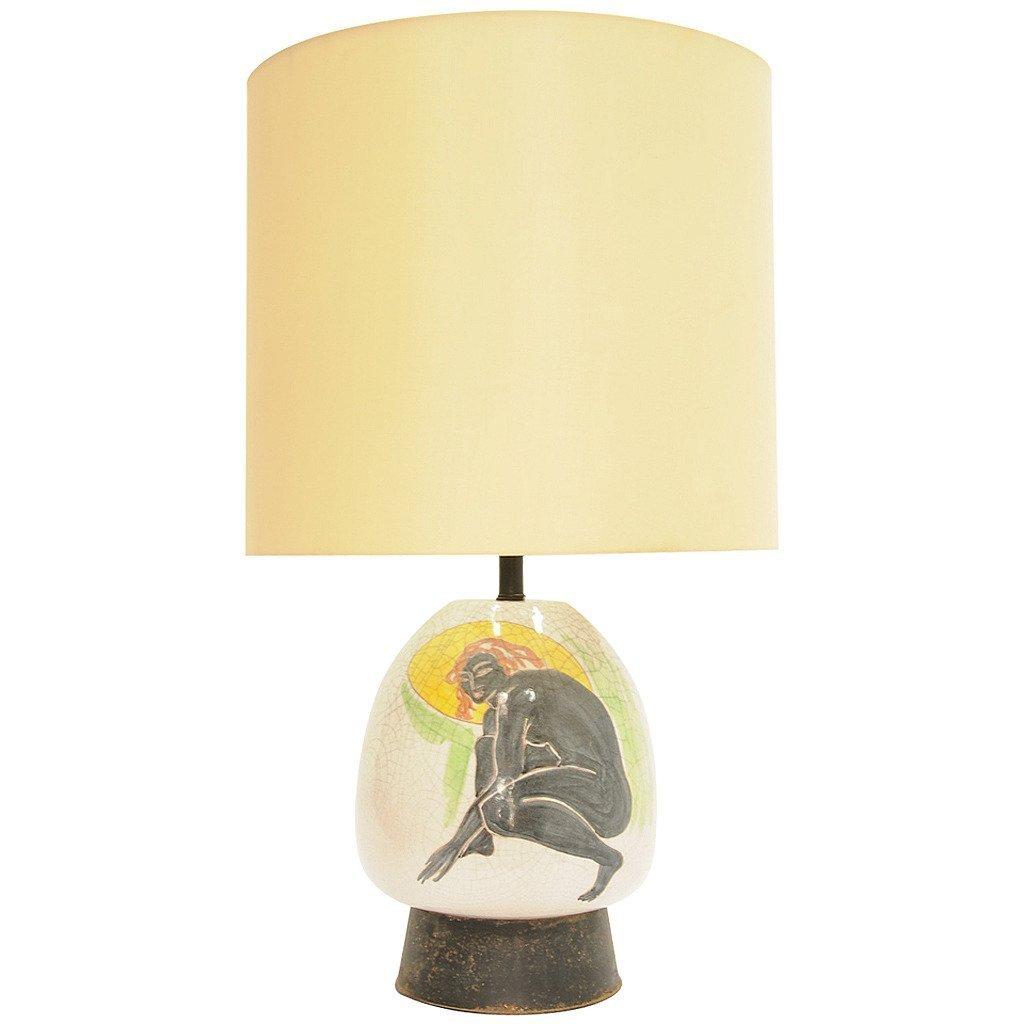 Monumental Ernestine Hand-Painted Lamp